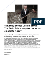 Derren Brown - The Guilt Trip