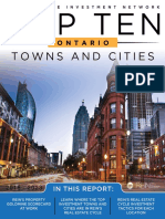 2018 Top Ten Ontario Towns and Cities