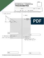 Exam,En Mensual II Bimestre Trigonometria Pre Fila A