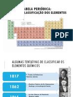 Tabela Periódica História e Classificação Dos Elementos