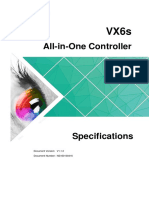 VX6s All in One Controller Specifications V1.1.0