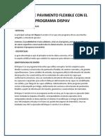 Diseño de Pavimento Flexible Con El Programa Dispav