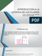 Introduccion a La Estatica de Los Fluidos Presentacion 2 Problemas