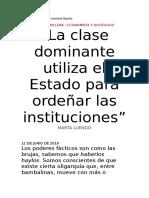 Clanes administrativos dominan España