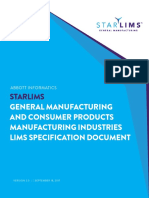 General Manufacturing Lims Spec Document