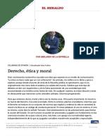 Derecho, Ética y Moral _ El Heraldo