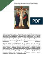 Oración de Consolación y Adoración a Jesús Adorable
