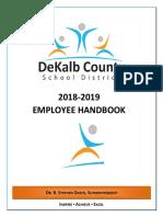 Employee Handbook 2018-2019