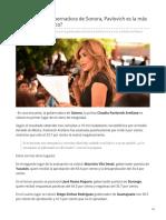 26-06-2019 Sabías que la gobernadora de Sonora Pavlovich es la más confiable de México-Tribuna