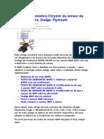 Teste de diagnóstico Chrysler do sensor do MAPA 3.doc