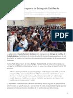 26-06-2019 VIDEO  Arranca programa de Entrega de Cartillas de Cuidado Médico-Expreso