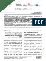 IPARAGUIRRE - Hacia una definición del español neutro
