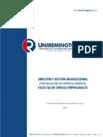 Módulo Dirección y gestión organizacional