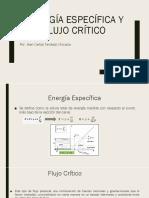 Energía Específica y Flujo Crítico