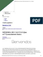 MEMORIA DE CALCULO [Que es___]conocimiento básico - Ing... en Taringa!.pdf