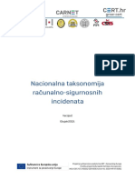 Nacionalna Taksonomija Računalno Sigurnosnih Incidenata