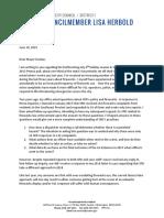 6-18-2019 Letter to Mayor Re Fireworks