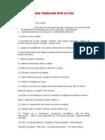 Cien Ideas Para Trabajar Por La Paz