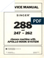 Service Manual for Singer 288 and 247-262