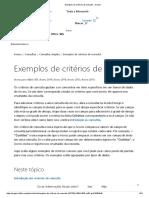 Exemplos de Critérios de Consulta - Access