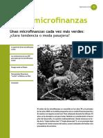 Unas Microfinanzas Cada Vez Más Verdes- Clara Tendencia o Moda Pasajera - No 42 SOS Fam