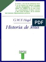 G.W.E.  Hegel -Historia de Jesús.PDF