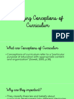 Changing Conceptions of Curriculum