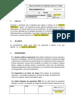 PRC-SST-012 Procedimiento Para La Realización de Examenes Medicos Ocupacionales