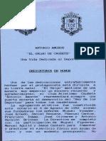 Antonio Amorós. Dedicatoria de Honor