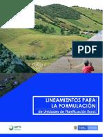 Formulación de Unidades de Planificación Rural (Upr)