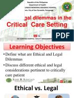 Ethico Legal Dilemmas in Critical Care Nursing (2)