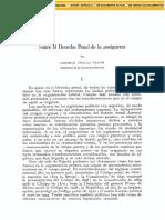 Eugenio Cuello Calón. Sobre el Derecho Penal de la postguerra