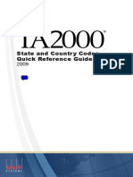 TA2000 State Country Reference Guide - March 2009