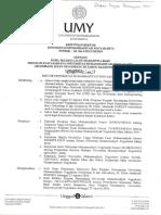 161 SK UMYVIII2018 Pengumuman Hasil Seleksi Penerimaan Mahasiswa Baru Program Pascasarjana Gel.ii Gel III TA 20182019