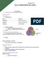 Diagnóstico y tratamiento de caries