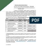 Convocatoria N° 06-2019 SELECCION DE COORDINADORES TECNICOS