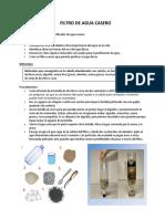 Ejemplo Para Plan de Lección - Filtro Casero