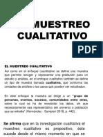 MUESTREO CUALITATIVO