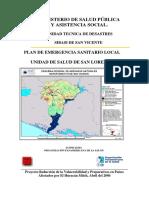 Plan de Emergencia Sanitario Local (PESL). Unidad de Salud de San Lorenzo.
