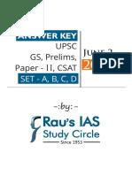 UPSC Paper II Answer Keys