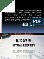 1 - Laws on Natural Environment
