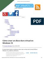 Cómo Crear Un Disco Duro Virtual en Windows 10
