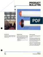 Philips 1500 Ma VHO Fluorescent Lamps Bulletin 6-84