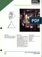 Philips Accent 1200 MR-16 Halogen Display Lamps Bulletin 6-87