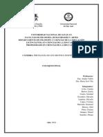 Coloquio Final de Psicología de Los Grupos e Instituciones