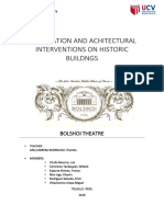 Restoration and Achitectural Interventions on Historic Buildngs