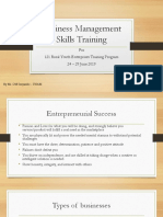 Business Management Skills Training Manual