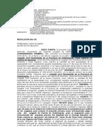 RESOLUCION N° 63 Exp. 00122-2012