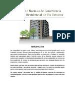 Manual de Normas de Convivencia Para Zona Residencial