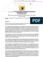 Report on the Senegal Elections, By Alpha Waly Diallo